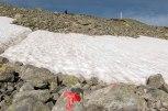 Fremdeles litt snø igjen i fjellet