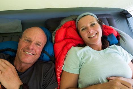 Ettermiddagshvil i teltet